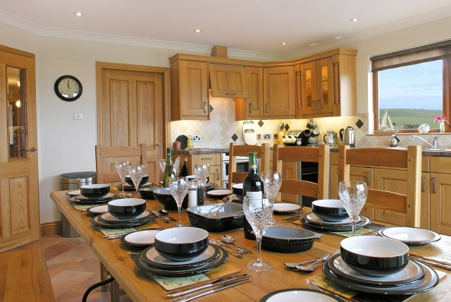Kitchen in Dundrum Cottage - self catering holiday accommodation
